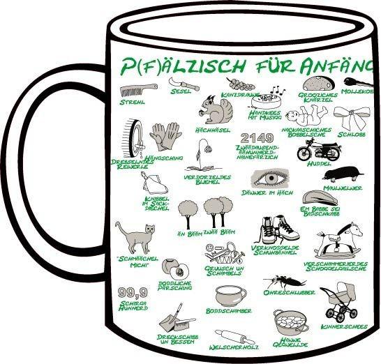 Tasse Pfälzisch für Anfänger grün Lektion 3-4