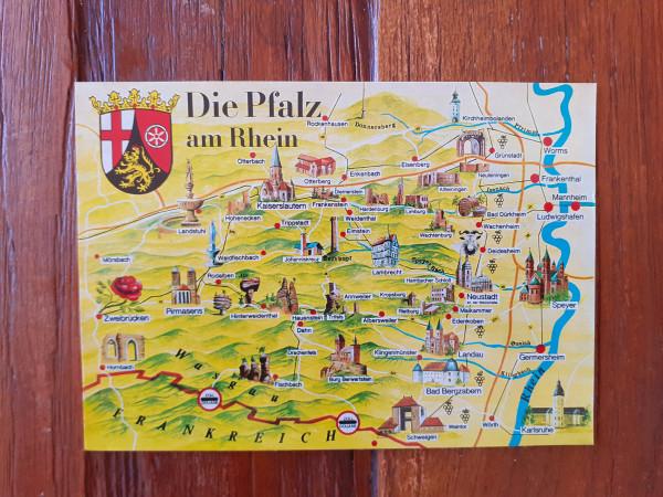 Postkarte Die Pfalz