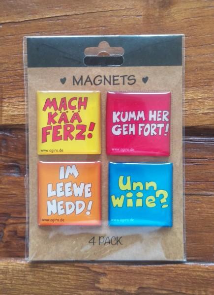 Magnete 4er Pack Pfälzer Sprich!