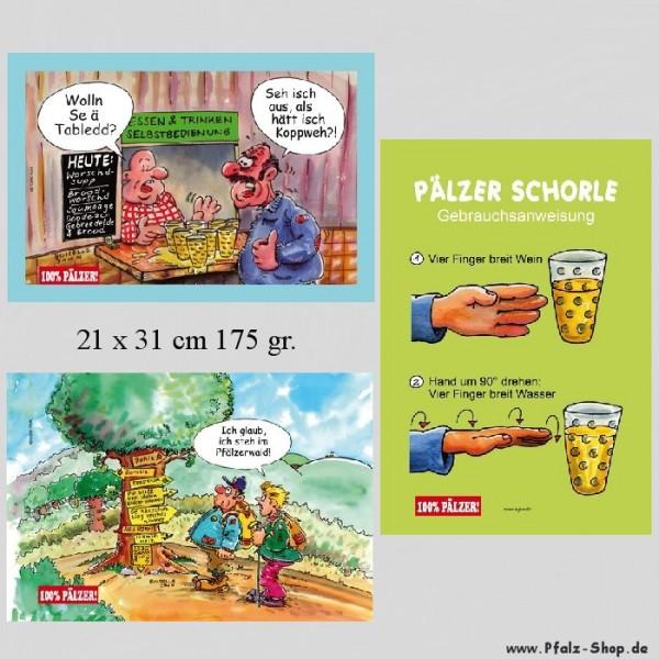 Pfälzer Blechschilder - 6 Stück zur Auswahl