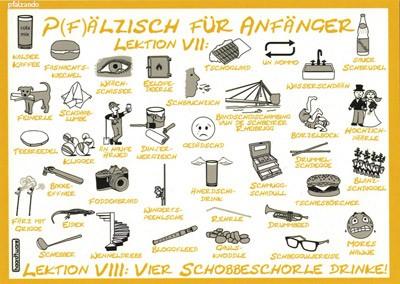 Postkarte Pfälzisch für Anfänger Lektion 7-8 gelb