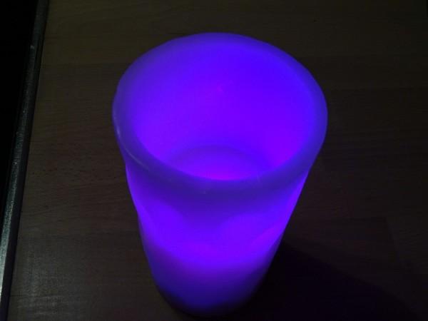 Dubbeglaskerze mit LED Licht