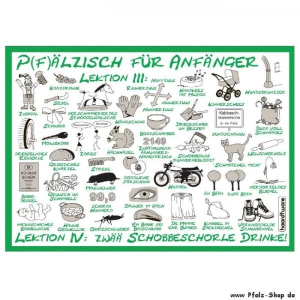Postkarte Pfälzisch für Anfänger Lektion 3-4 grün