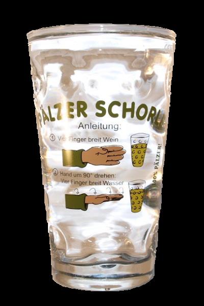 "Pfälzer Dubbeglas ""Schorleanleitung"" 0,5l"
