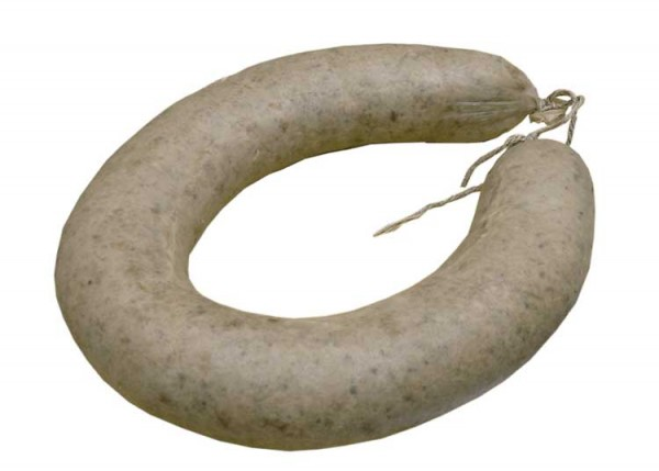 Frische Leberwurst im Naturdarm
