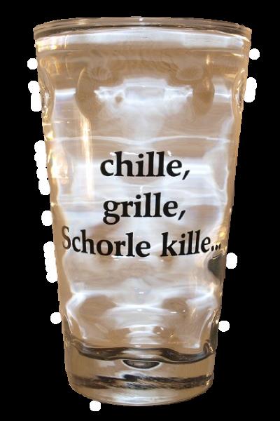 Dubbeglas - chille, grille, Schorle kille - 0,5l