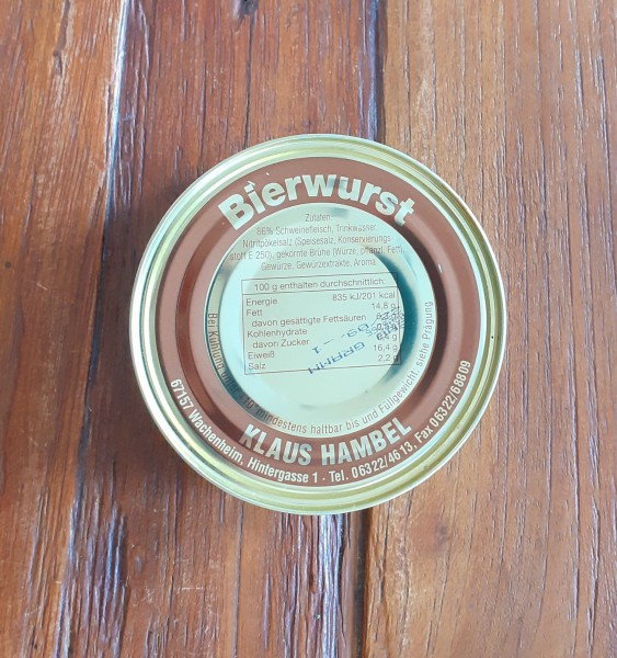 Pfälzer Bierwurst 200g