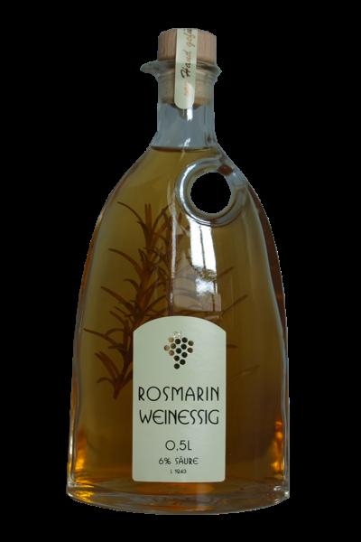 Pfälzer Weißweinessig mit Rosmarinzweig 500ml