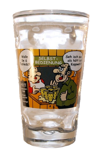"Pfälzer Dubbeglas ""Tabledd"" 0,5l"