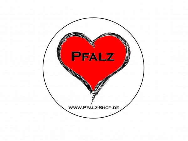 Aufkleber Pfalzherz