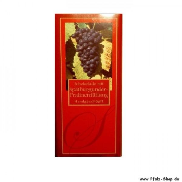 Schokolade mit Spätburgunder- Pralinenfüllung 100g