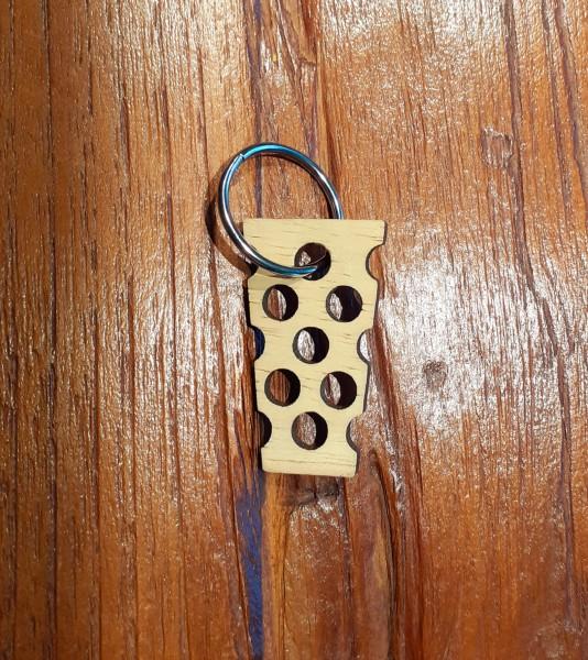 Dubbeglas Schlüsselanhänger - Eiche