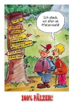 Postkarte Pfälzer Wald